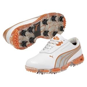 06e0d3606230a1 Puma AMP Cell Fusion Shoe - White and Orange ...