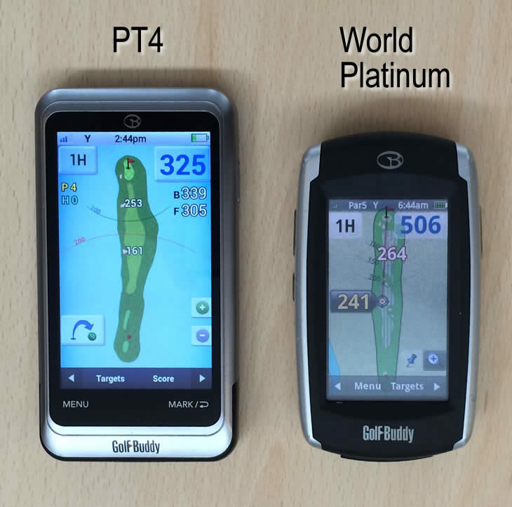 GolfBuddy PT4 GPS V World Platinum