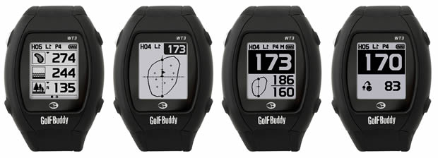 GolfBuddy WT3 yardages
