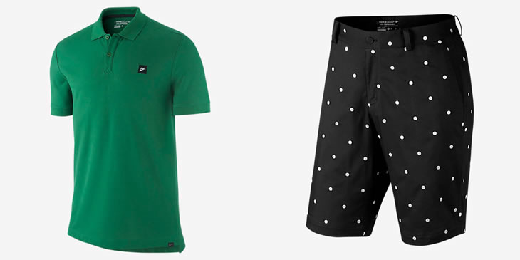 Nike Golf 2015 Apparel Polo-Shirt and Shorts