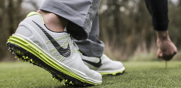 new style cf894 98476 Nike Lunar Control 3 Golf Shoe White Volt