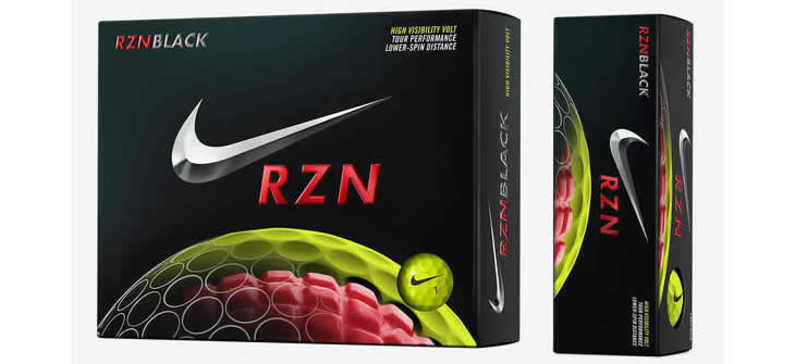 Nike RZN Black Volt Golf Ball