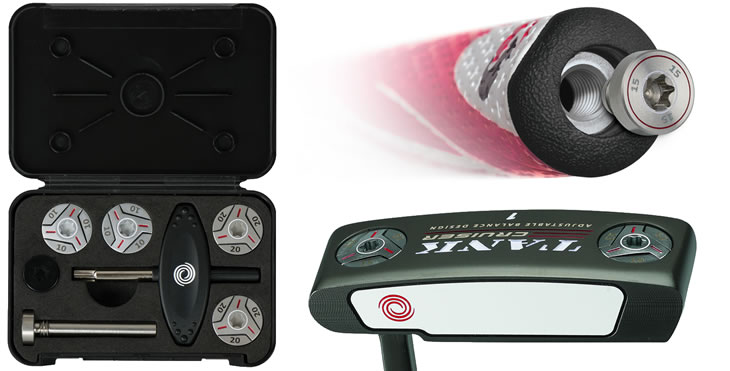 Putter adjustable weights