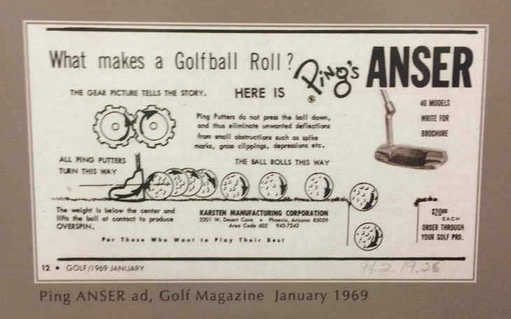 Ping Anser Putter Advert