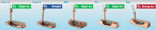 Ping Karsten Adjustable Stroke Types