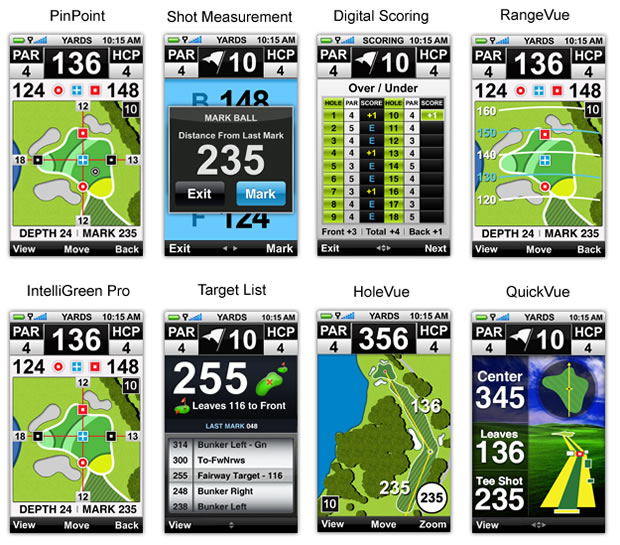 SkyCaddie Touch Features