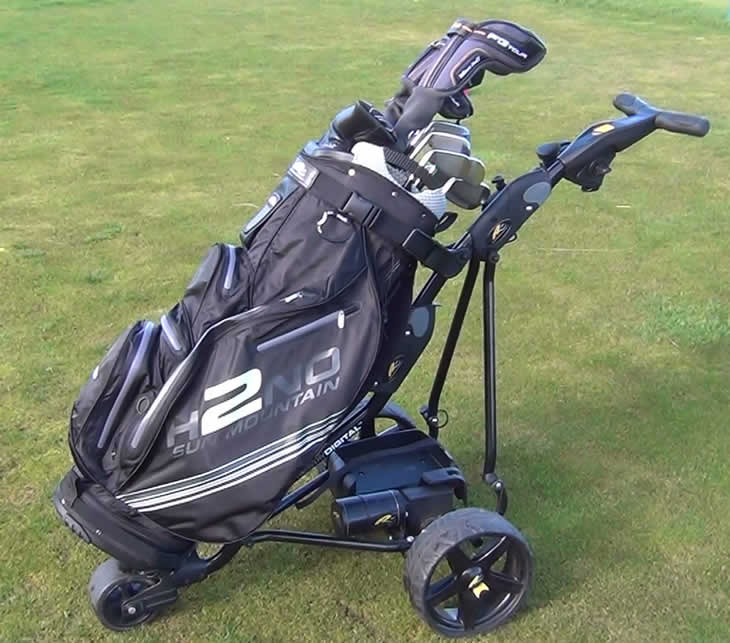 Sun Mountain H2NO Cart Bag On Trolley