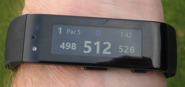 Microsoft Band Golf Tile Review