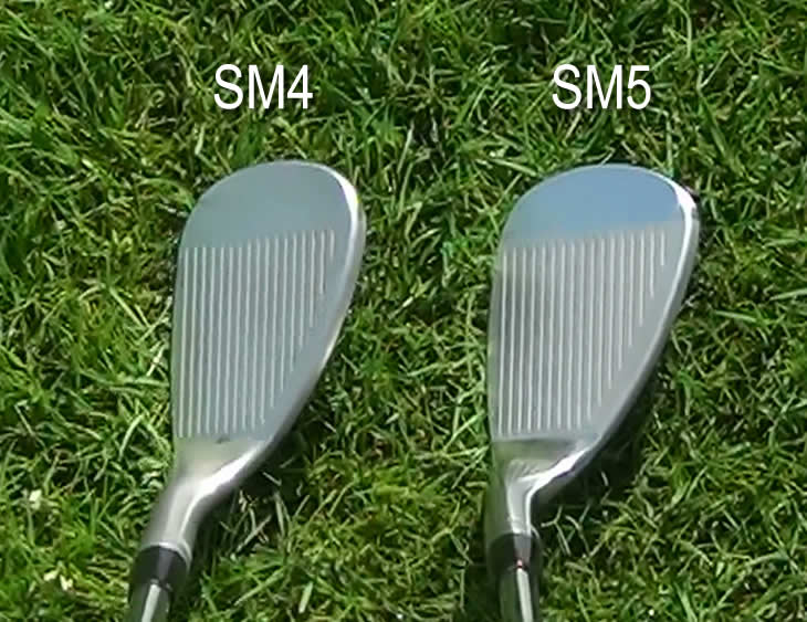 Titleist Vokey SM4 SM5 Wedge Address Comparison
