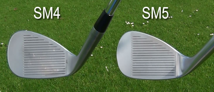 Titleist Vokey SM4 SM5 Wedge Face Comparison