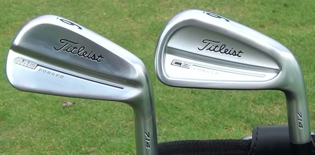 Titleist 714 MB Compare CB Irons