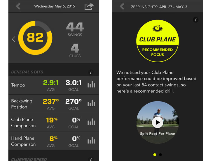 Zepp Golf Swing Analyser
