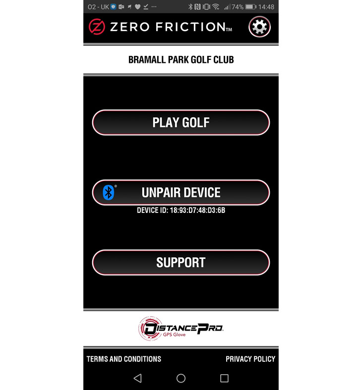 Zero Friction Distance Pro GPS Glove