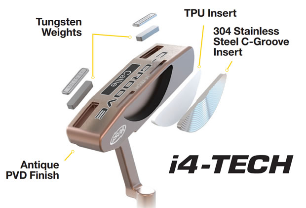 Exploded i4 Tech putter