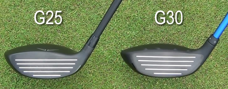 Ping G25 G30 Fairway Face Comparison