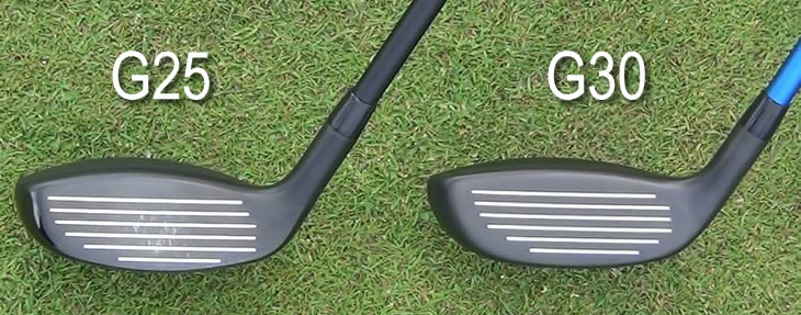 Ping G25 G30 Hybrid face comparison