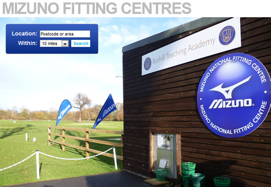 Find Your Nearest Mizuno Fitting Centre